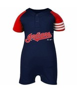 Baby Infant Cleveland Indians Romper Creeper  MLBAdidas 0-3 Months Jersey - $16.82
