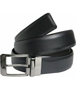 Mens Leather Reversible Belt in Black & Brown with matelic Buckle - $14.28