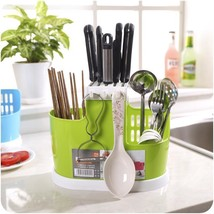 Rack Dish Organizer Holder Multifunction Kitchen Tableware Plastic Shelving Rack - $11.82