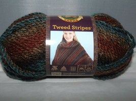 Lion Brand Yarn Tweed Stripes #206 Woodlands Bulky 100% Acrylic 3 Oz 85g... - $7.82