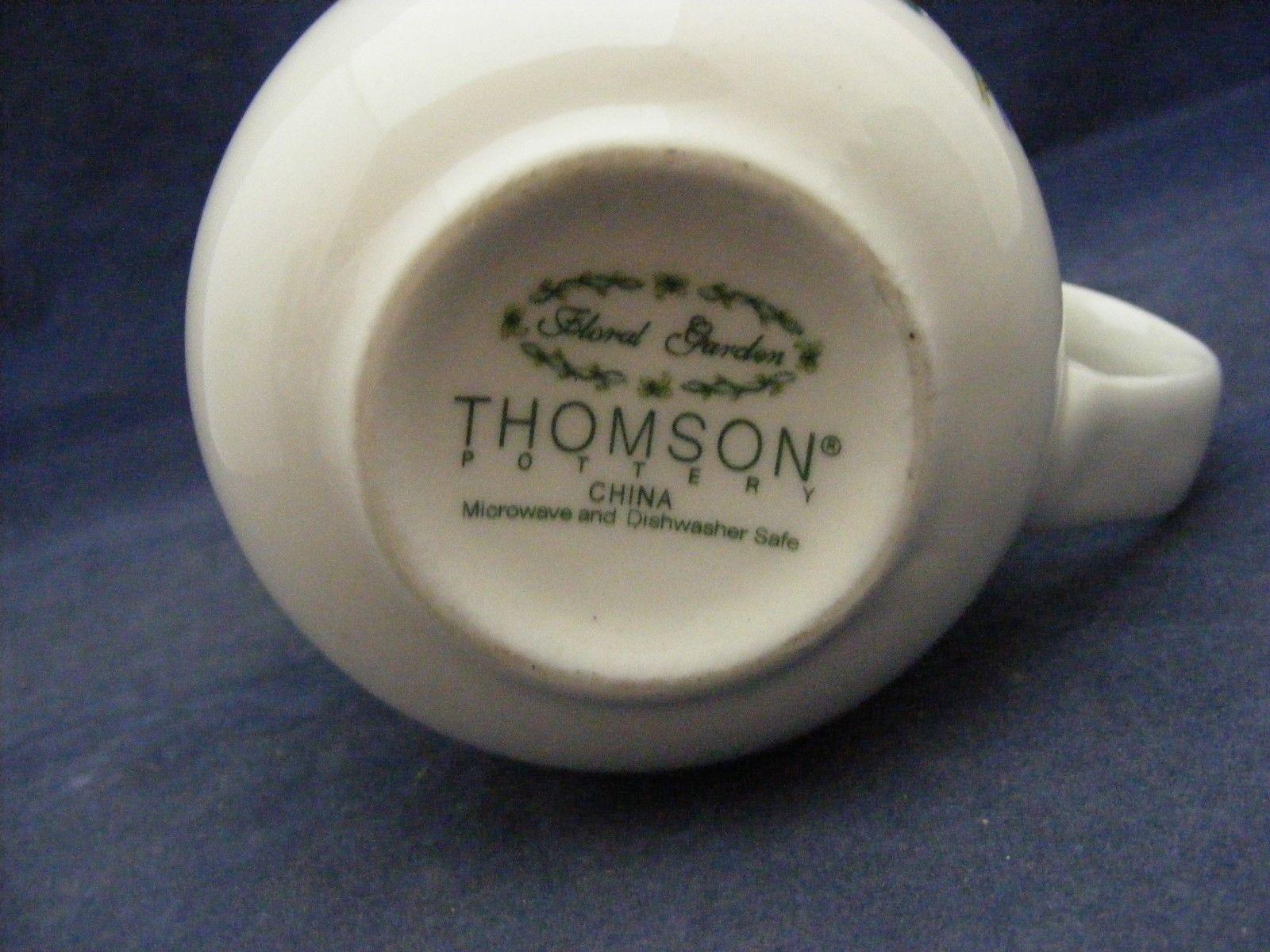 Thomson Floral Garden Mug Blue Irus Flowers