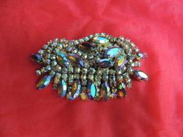 Big Vintage Beautiful AB Rhinestone Brooch - $39.99