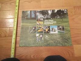 John Deere Outdoor Power Equipment Vintage Dealer sales brochure 18 - $15.99