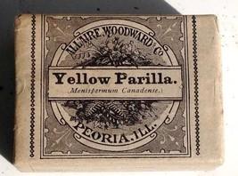 1890 antique UNUSED YELLOW PARILLA QUACK MEDICINE Allaire,Woodward LAXAT... - $64.95