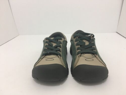 Keen Briggs Green Tan Leather Women's Lace Up Comfort Walking Shoes Size 5 M image 7