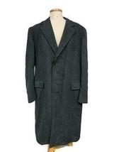 Brooks Brothers Herringbone Topcoat Coat Wool Size 43 Regular - $165.59