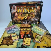 Risk:The Lord of the Rings Middle Earth Conquest Game Complete with Ring!! - $32.66