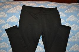 WARM BLACK HEAVY BLACK LEGGINGS BY FADED GLORY SIZE MEDIUM 8/10 Rox 200 - $13.93