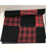 """Red Black Buffalo Plaid Scotch Plaid Black Gray Silver Throw Blanket 54""""... - $118.79"""
