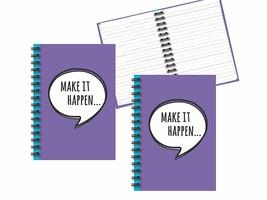 """Hardback Spiral Notebook Set - 8.25"""" x 5.75"""" Paper Size, 2 Notebooks - L... - $12.71"""