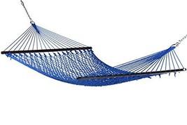 Caribbean Rope Hammock - 55 Inch - Soft-Spun Polyester Dark Blue - $113.32