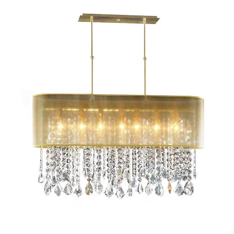 "Primary image for AM4300: Clear Crystal Beaded Pendant Pipe Chandelier (16""-42"" W x 42"" H) $975+"