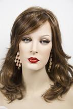Nat Golden Brown & Med Red Gold Blond Highlt & Tip Blonde Medium Lace Front Wigs - $183.11