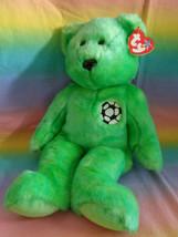 "Vintage 1999 Ty Original Beanie Buddy Kicks Soccer Bear Retired w/ Tags 14"" - $9.85"