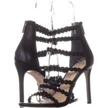 Jessica Simpson Jezalynn Strappy Zip Up Sandals 795, Black, 10 US / 42 EU - $29.77