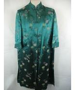Green Kimono Robe Frog Closure Kwong Ngai Small - $29.69