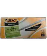 BIC Round Stic Ballpoint Stick Pen Black Ink Medium 6 Boxes of 12, 72 pens - $16.82