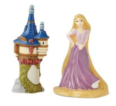 Walt Disney Rapunzel and Tower Ceramic Salt & Pepper Shakers Set NEW BOXED - $19.34
