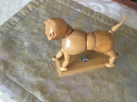 Wooden Hand made Sculpture Cat with Articulated Joints - $32.67