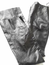 "INC International Black Leather Pants Straight Leg sz 10 Waist 30"" Lined... - $42.75"