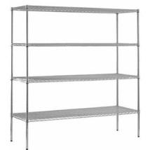 "Muscle Rack 4-Shelf 18""D x 72""W 86""H Chrome Steel Shelving Unit  - $183.44"