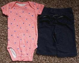 Girl's Size 3m 0-3 Months Carter's Pink Heart Designed Top, J Beans Leggings - $15.00