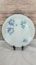 Japan Mikasa Lyric Blue Garden Floral Round Serving Platter Chop Plate  - $13.57