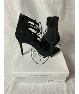 Steve Madden Yeskia Black Suede High Heels Tie Up Pointed Toe size 9 - $14.95