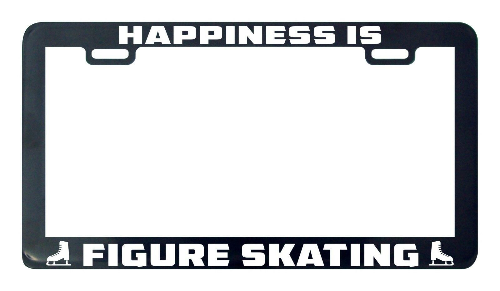 Primary image for Happiness is Figure Skating license plate frame holder