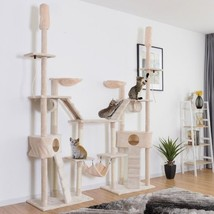 Condo Scratching Posts Cat Tree with Ladder Hammock - £140.73 GBP