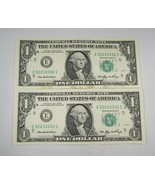 2006 2 Consecutive Federal Reserve Notes PC-499 - $27.99