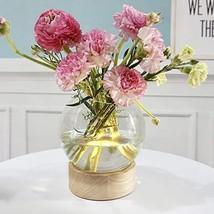 MJ PREMIER Plant Terrarium Glass Vase LED Flower Vase Timing Function fo... - $49.99