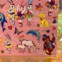 Full S443 Lisa Frank Stickers Characters Bears Markie Unicorn Bunnies Dolphin image 3