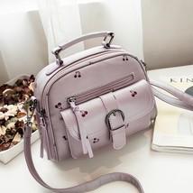 Lovely Women Cherry Printing Shoulder Bag Handbag High Quality Cute Pink... - $20.99