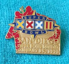 SUPER BOWL XXXII (32) PIN - NFL LAPEL PINS - MINT CONDITION - BRONCOS - ... - $5.89