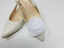 White Flowers Clip for Shoes (2 piece), Flower Shoe Clips, Prom Shoes - $12.99