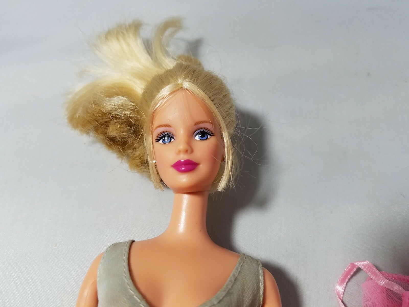 Vintage Barbie Doll 1991 Blonde Hair With Ponytail 2 Outfits Dresses Pink