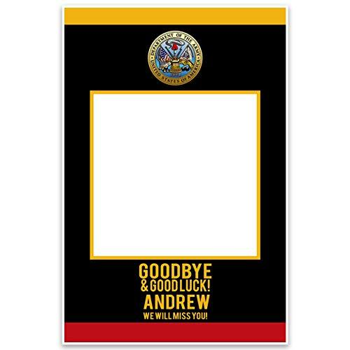 Military Army Good Bye Good Luck Selfie Frame - $19.80