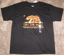New Vans Off the Wall Boys Pizza Checkerboard Short Sleeve Tee Top NWT M L - $14.95