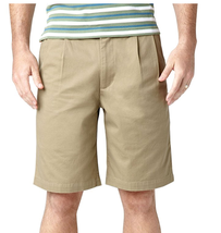 $48 Dockers Men's Perfect Short D3 Classic-Fit Pleated Short, Khaki, Siz... - $24.74