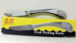 "NEW JO Spices 6"" Stainless Steel Crab Picking Knife Curved Blade - $12.29"