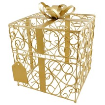 Gold Gift Card Holder Wedding Card Box Reception Money Gift Card Box - $50.22