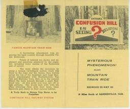 1950s Confusion Hill Travel Brochure Miniature Railroad California CA Re... - $10.00