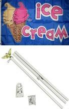 ALBATROS 3 ft x 5 ft Advertising Ice Cream Cones Blue Flag White with Po... - €57,09 EUR