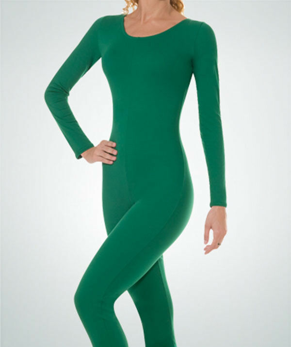 Primary image for Body Wrappers MT217 Adult Medium 8-10 Kelly Green Full Body Long Sleeve Unitard
