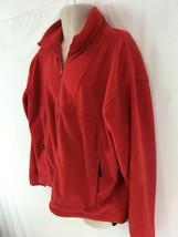 Columbia Mens XL Red Hiking Camp Zip Front Vintage Fleece Jacket - $15.84