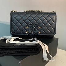 Authentic Chanel Classic Flap Caviar Quilted Large Filigree Flap Shoulder Bag image 2