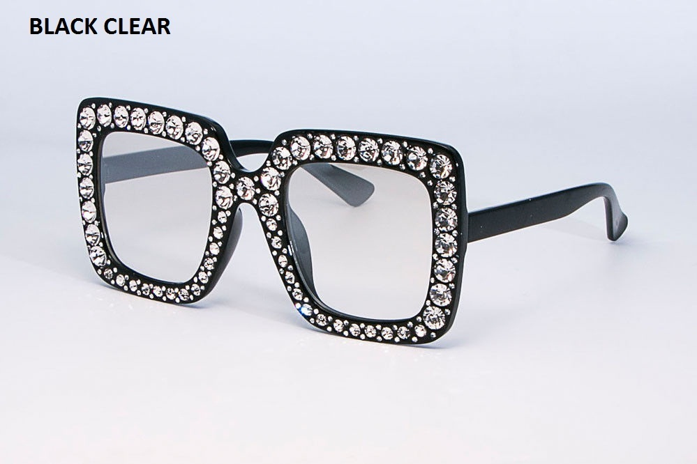0ec9ff1b0d7 NEW Oversized Square Frame Bling Rhinestone Sunglasses Women Fashion Shades  2018