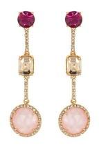 Kate Spade New York Multicolor Crystal Linear Drop Earrings - $23.75