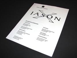 2001 JASON X Movie PRESS KIT PRODUCTION NOTES HANDBOOK Promotional - $11.99